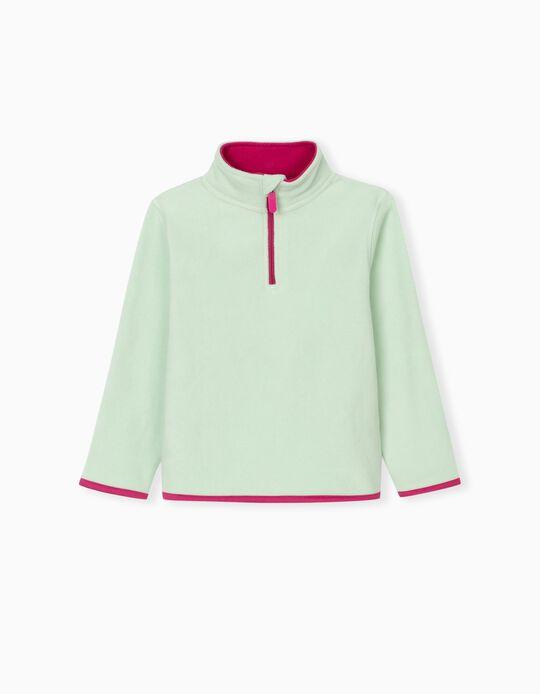 Polar Fleece Sweatshirt for Kids, Aqua Green