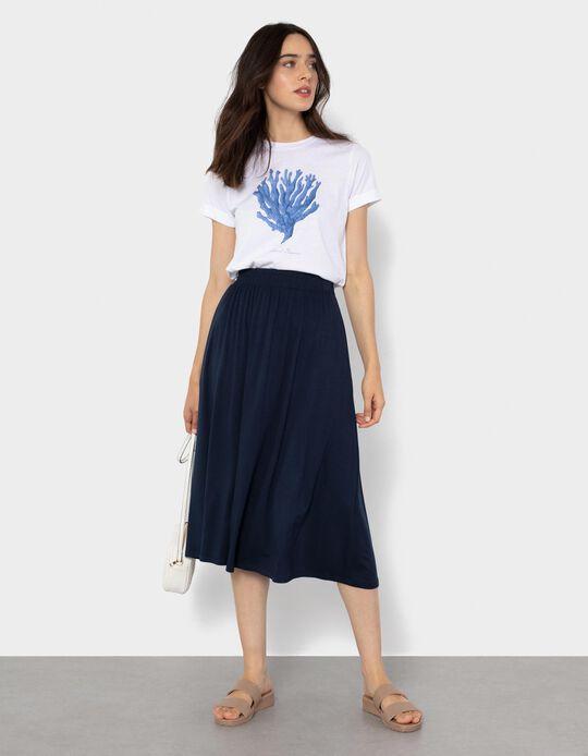 T-shirt com Estampado, Mulher, Branco
