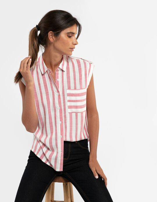 Striped Sleeveless Shirt