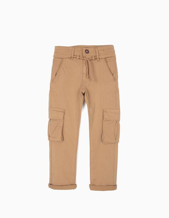 Calças Cargo para Menino, Camel