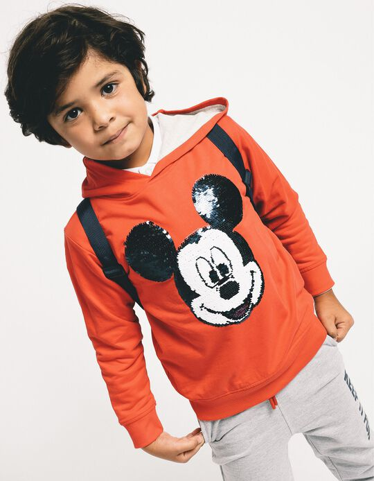 Sweatshirt com Capuz para Menino 'Mickey', Vermelho