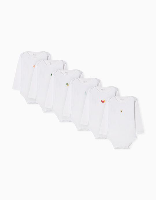 6 Long Sleeve Bodysuits for Newborn Baby Girls