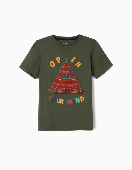 T-shirt, 'Open Your Mind', for Boys