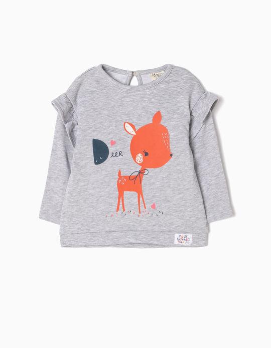Sweatshirt Deer Cinzenta