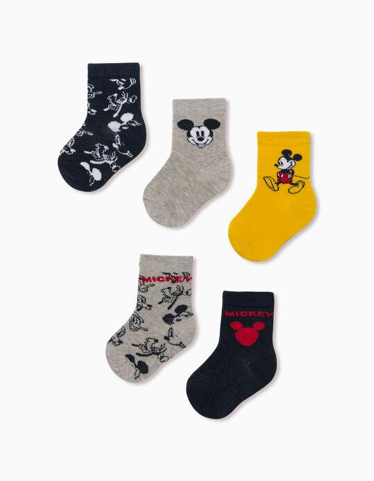 5 Meias 'Mickey & Friends', Bebé Menino, Multicolor