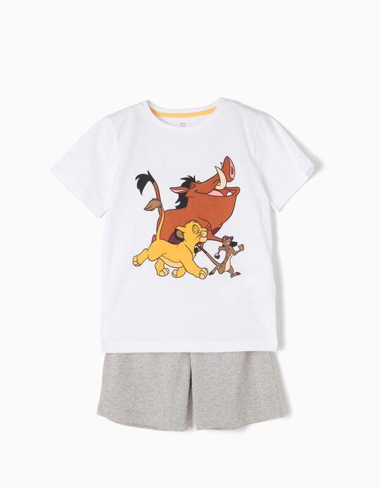 Pijama T-shirt e Calções Rei Leão