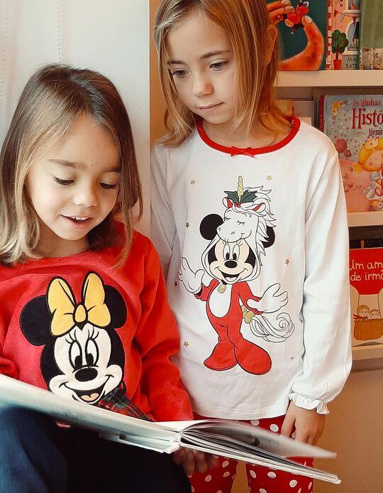 Pyjamas for Girls 'Christmas Minnie', White/Red