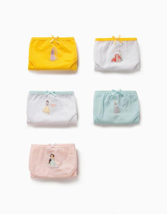 5 Cuecas para Menina 'Disney Princesses', Multicolor