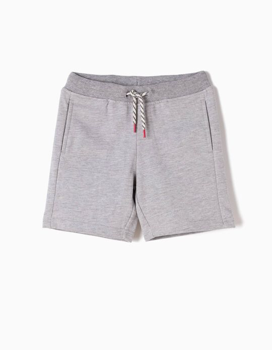 Fleece Shorts for Boys, Grey