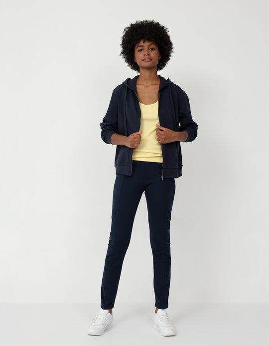 Leggings with Darts, Women, Dark Blue
