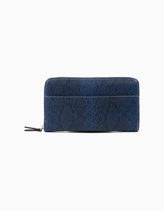 Snakeskin-effect wallet