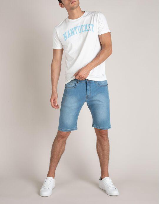 Slim Leg Denim Shorts