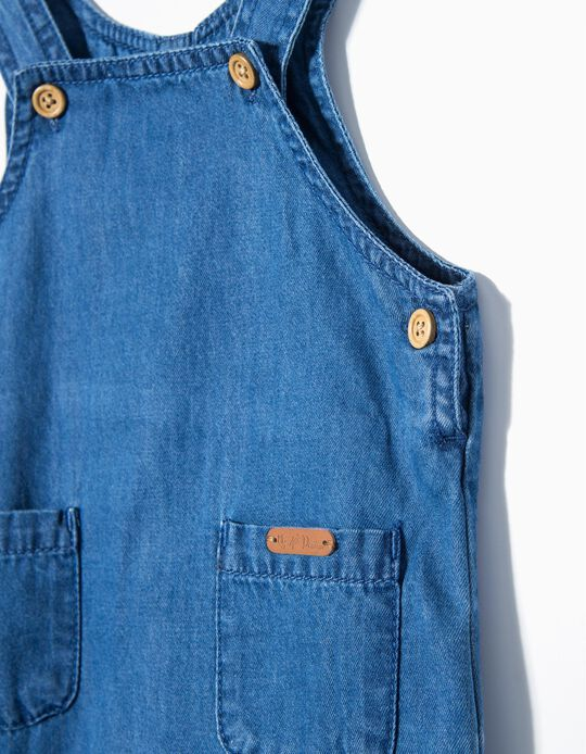 Denim Dungarees for Newborn 'My 1st Denim', Blue
