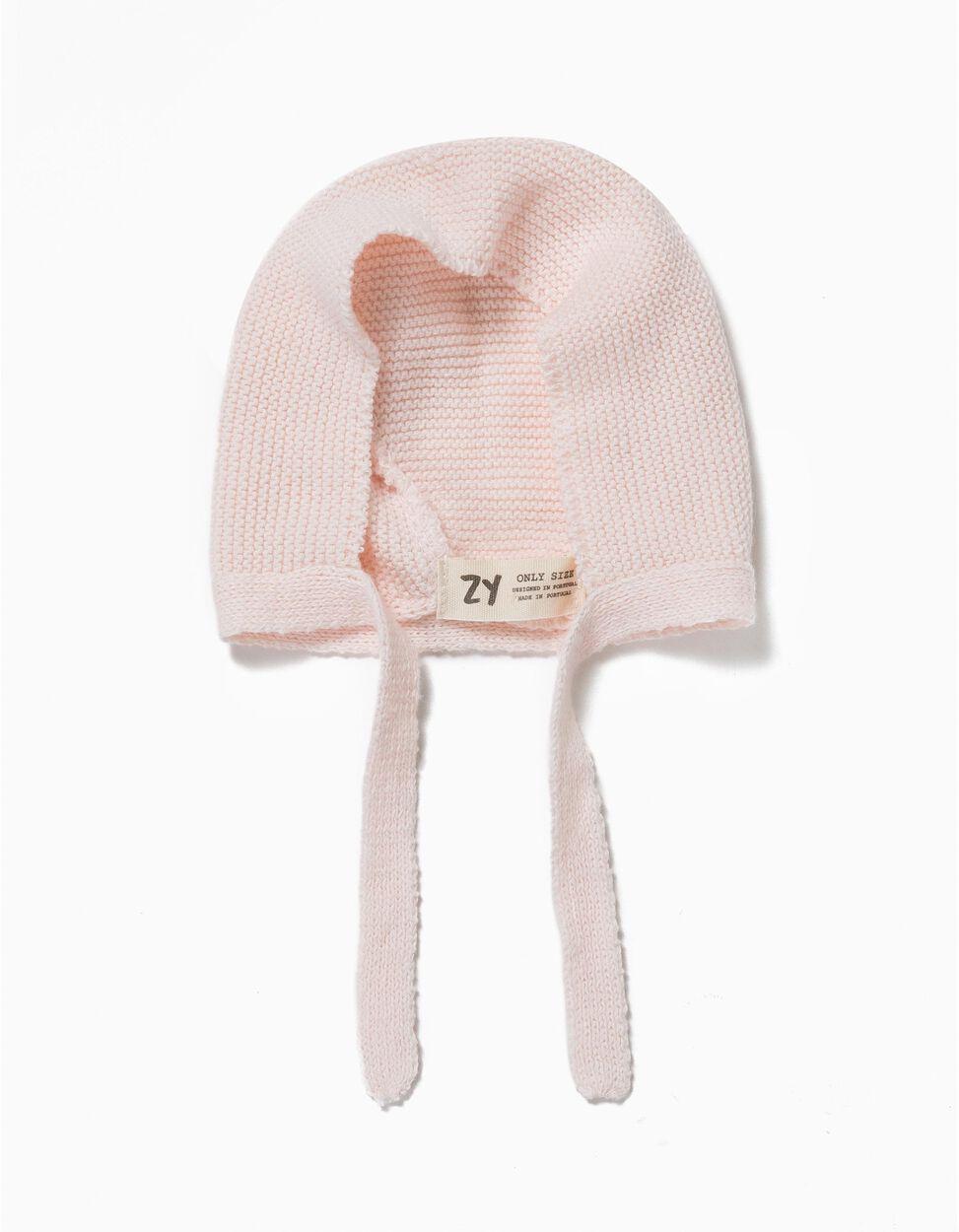 Touca de malha rosa