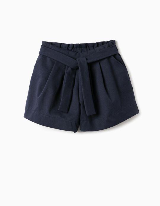 Shorts for Girls, Dark Blue
