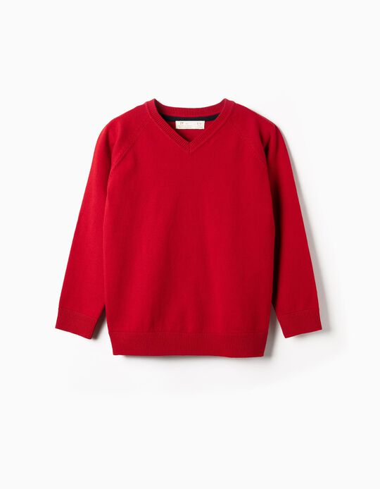 Knit Jumper for Boys, Red