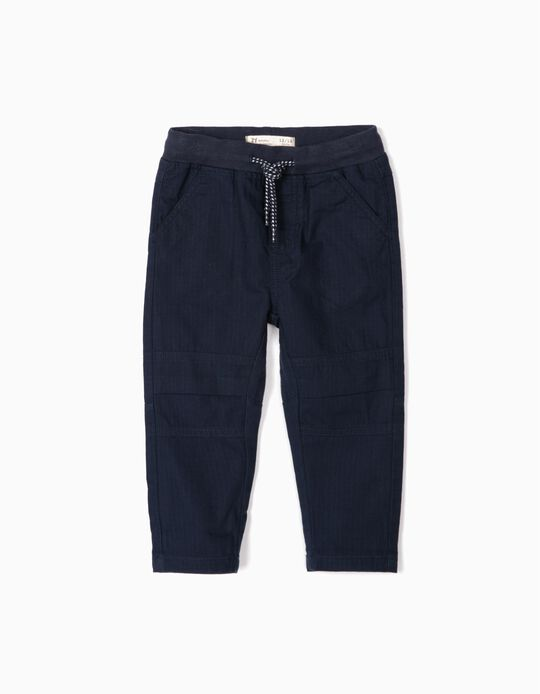 Jogger Trousers for Baby Boys , Dark Blue
