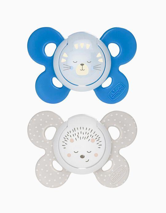 Chupeta Confort Silicone Luminosa 16-36M+ Chicco 2Un.