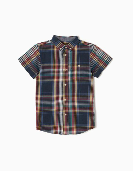 Short-sleeve shirt for Baby Boys, Dark Blue