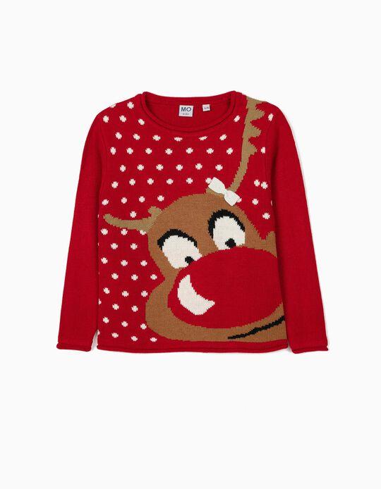 Camisola de Malha de Natal, para Menina