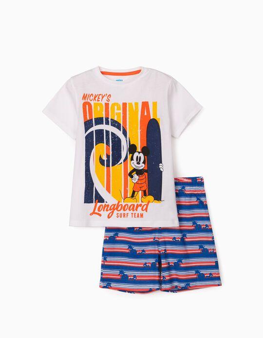 Pijama para Menino 'Mickey Surf Team', Branco/Laranja/Azul
