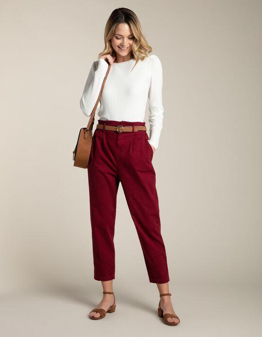 Calças slouchy com cintura elástica