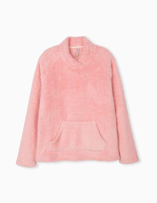 Camisola de Pijama Quente, Mulher, Rosa