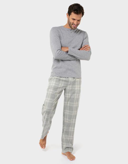 Pijama de algodão xadrez