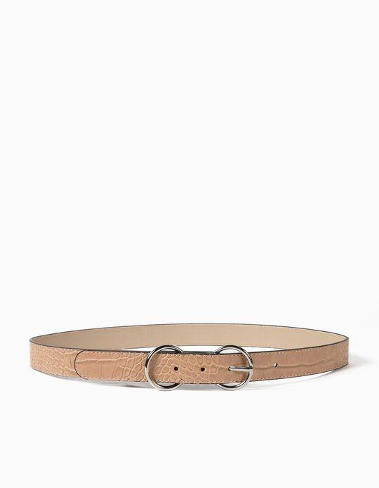 Croc-Effect Belt