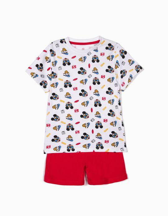 Pijama para Menino 'Mickey & Donald', Branco e Vermelho