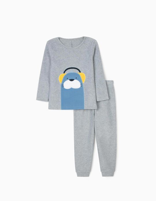 Pijama Polar para Menino 'Seal', Cinza