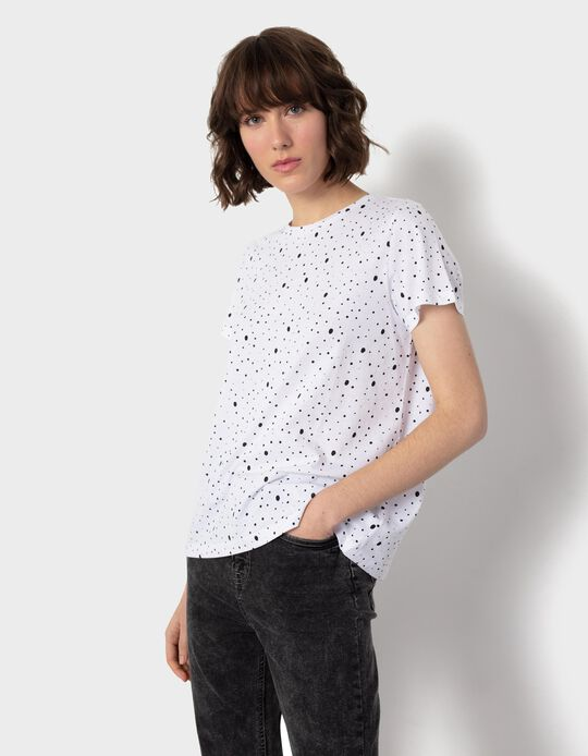 Dotted T-shirt, for Women