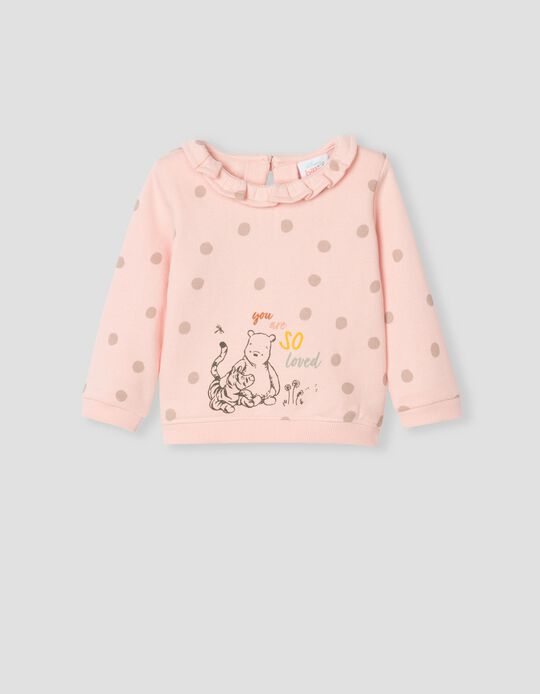 Sweatshirt às Bolinhas, Bebé, Rosa