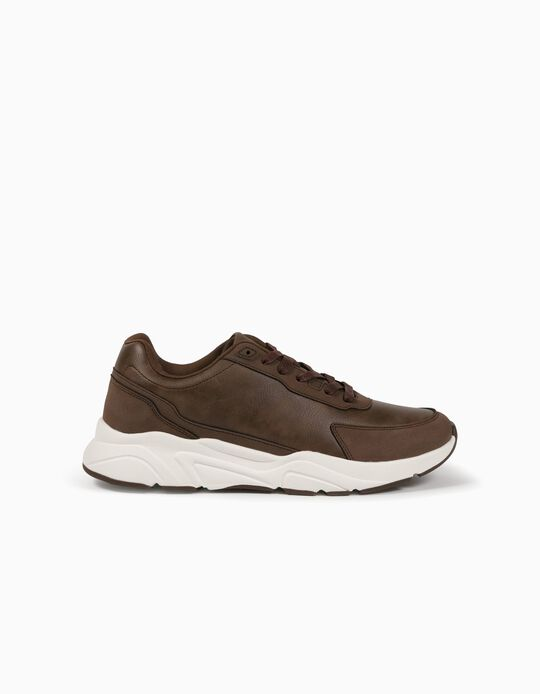 Chunky Trainers in Synthetic Leather