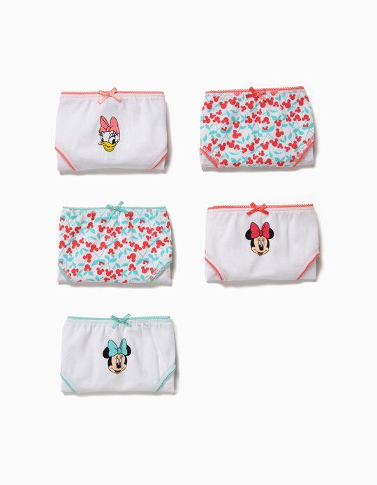 5 Cuecas para Menina 'Minnie & Daisy' Multicolor