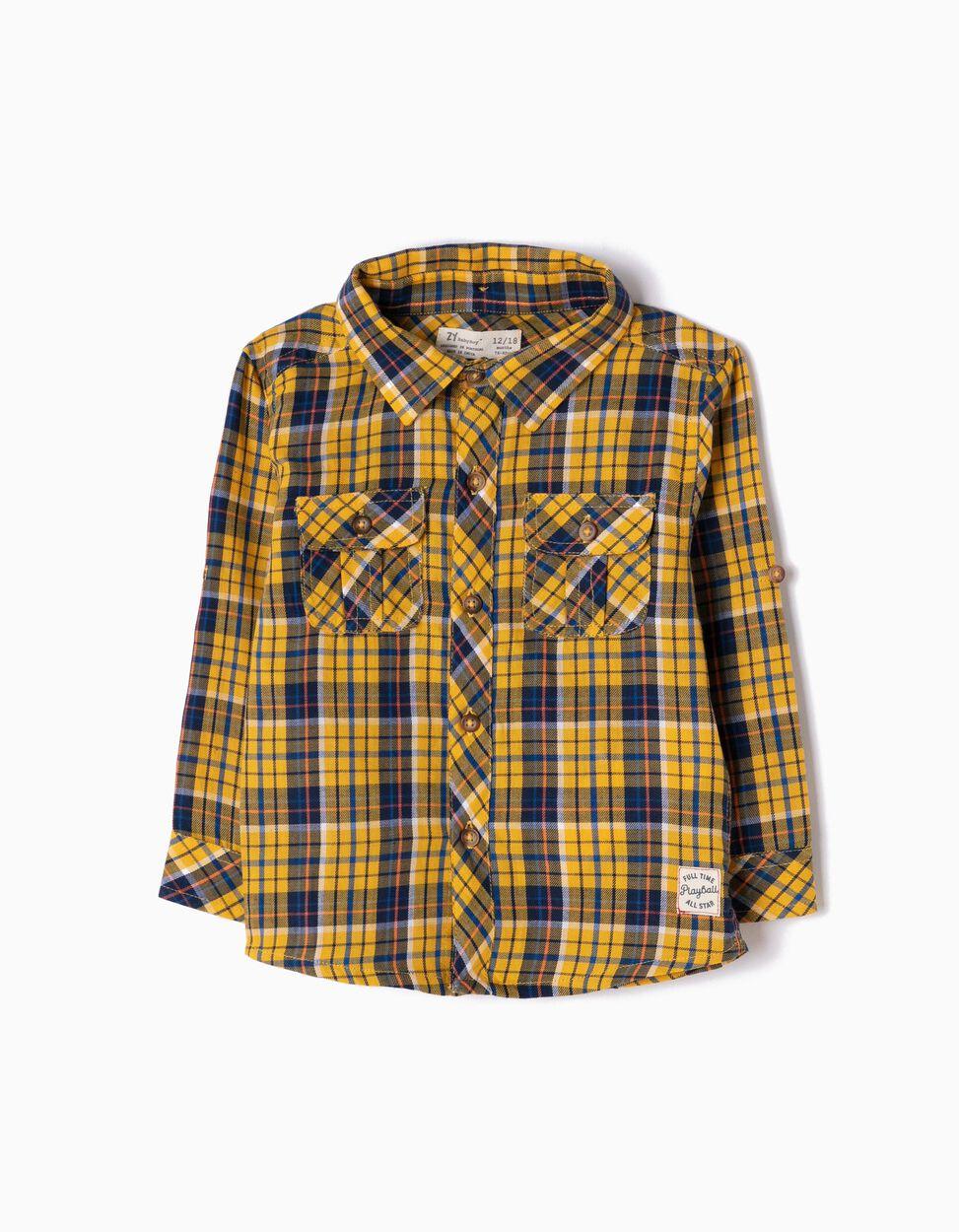 Camisa Xadrez com Capuz