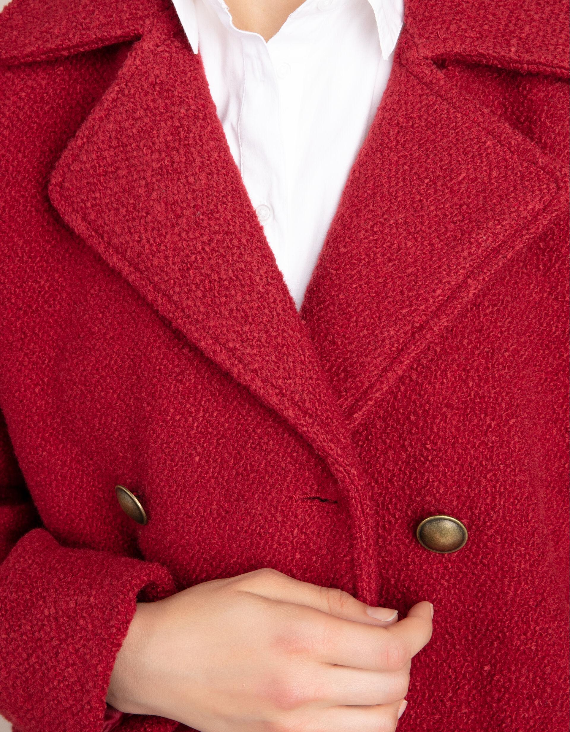 Casaco de trespasse curto com botões