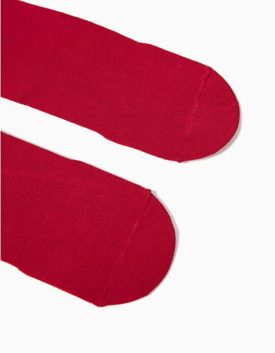 Collants de Malha Vermelhos