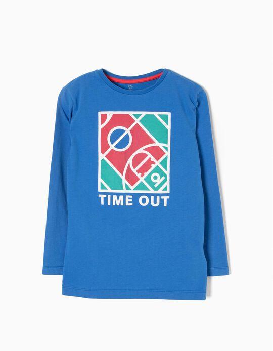 T-shirt Manga Comprida Time Out