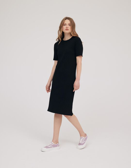Rib Knit Dress, Made in Portugal