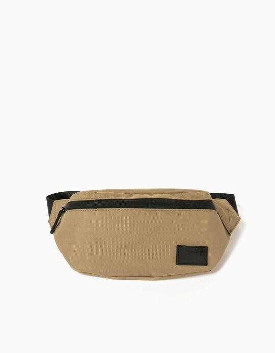 Canvas Bum Bag for Men, Beige