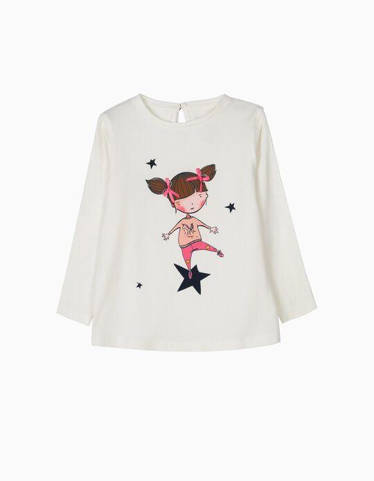 T-shirt Manga Comprida Magic Branca