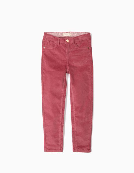 Corduroy Trousers for Girls, Pink