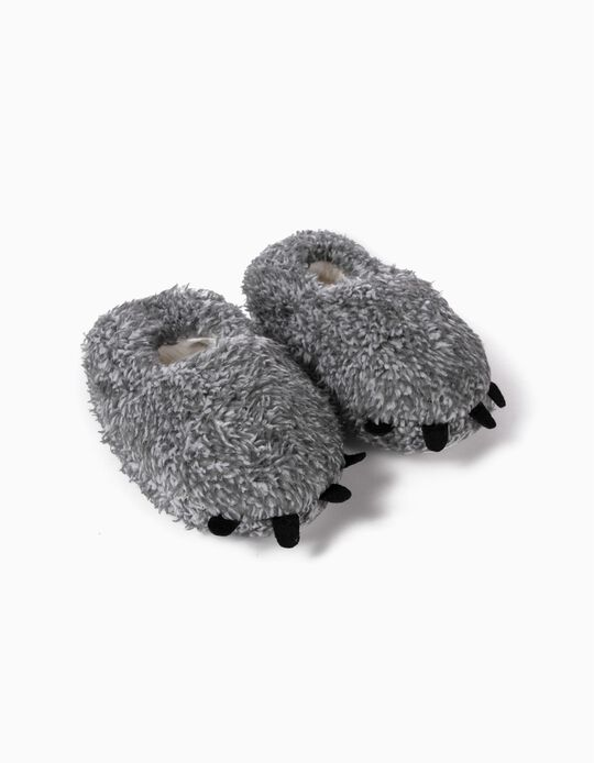 Slippers for Baby Boys 'Paws', Grey