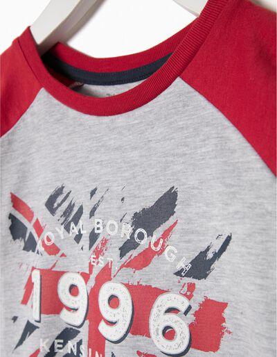 T-shirt manga comprida bicolor