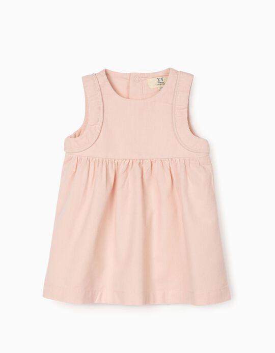 Corduroy Dress for Newborn Baby Girls, Pink