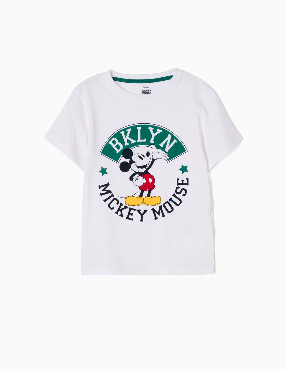 T-shirt Mickey BKLYN Branca