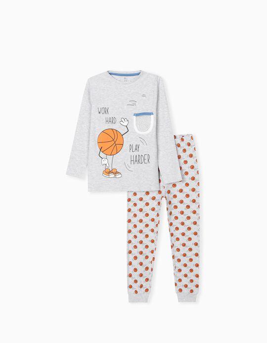 Pijama para Menino 'Play Harder', Cinza