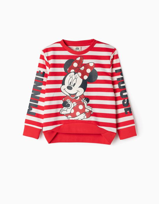 Sweatshirt for Girls 'Minnie & Stripes', Red/White