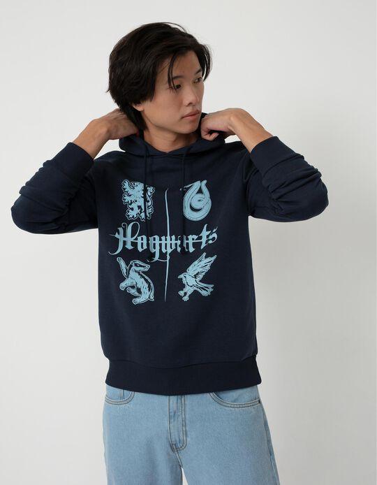 Hogwarts Sweatshirt, Men, Dark Blue
